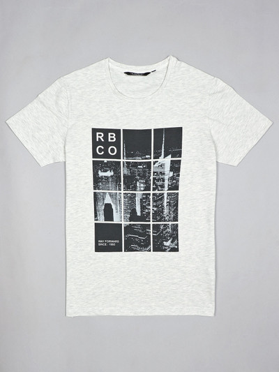 River Blue white casual printed t-shirt