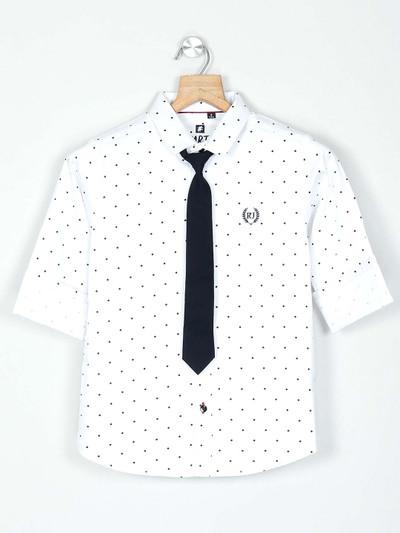 Ruff black checks cotton boys shirt