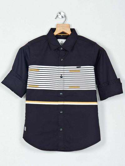 Ruff black stripe full sleeves shirt