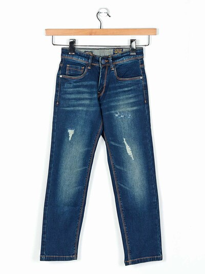 Ruff blue denim washed jeans