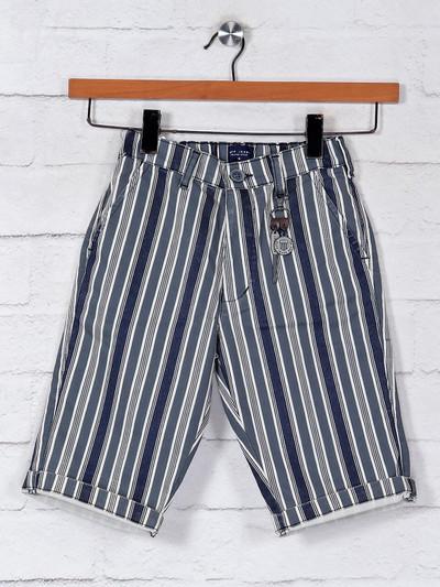 Ruff grey stripe boys cotton shorts