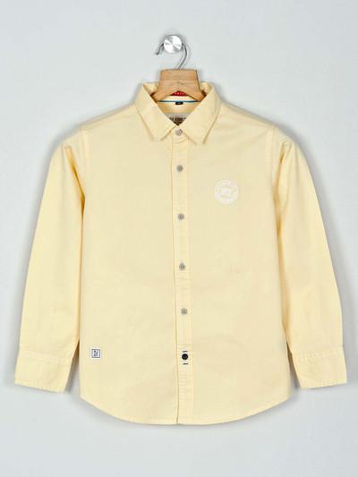 Ruff presented yellow solid shirt
