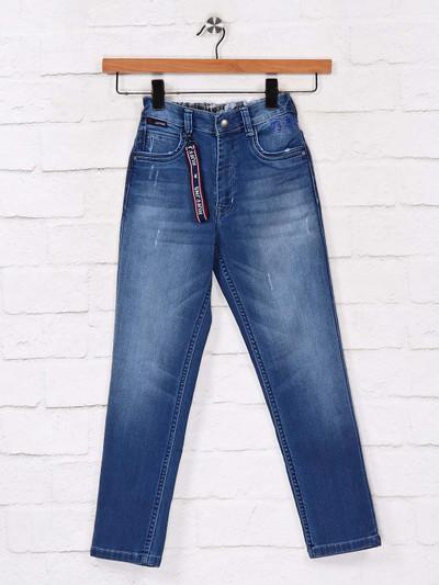 Ruff solid blue casual wear boys jeans