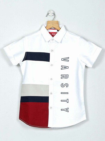 Ruff solid white casual wear shirt