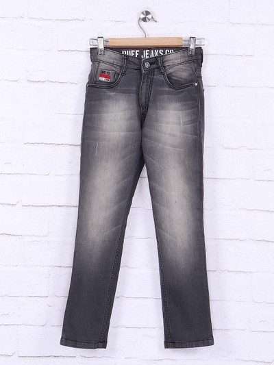 Ruff washed effect grey hue jeans