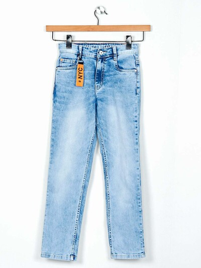 Ruff washed light blue slim fit jeans