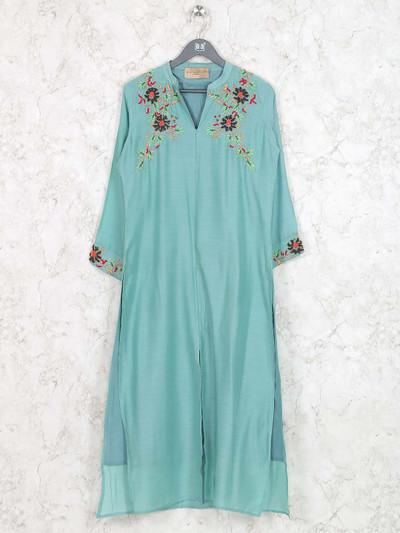 Sea green colored cotton kurti