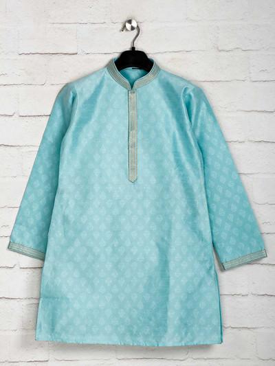 Sky blue festive function kurta suit