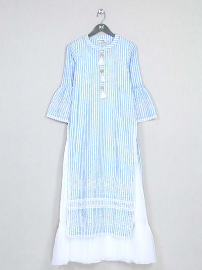 Special blue cotton kurti for women