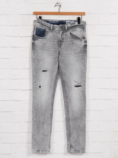 Spykar washed grey skinny fit jeans