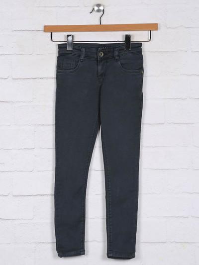 Stilomoda grey solid casual jeans