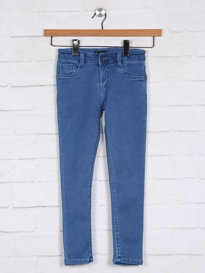 Stilomoda solid blue girls jeans