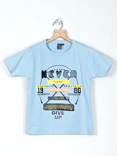 Timbuktuu blue cotton printed casual t-shirt