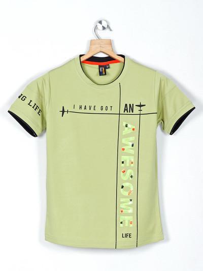 Timbuktuu printed green casual wear t-shirt