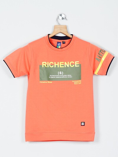 Timbuktuu printed peach boys t-shirt