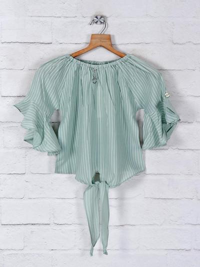 Tiny Girl stripe srtyle cotton top for girls