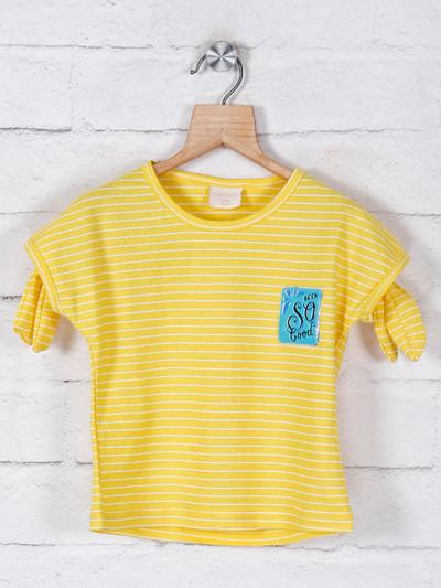 Tiny Girl stripe style yellow cotton top
