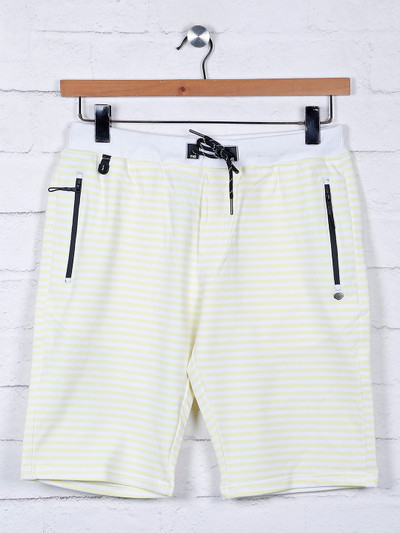 TYZ stripe yellow color cotton short