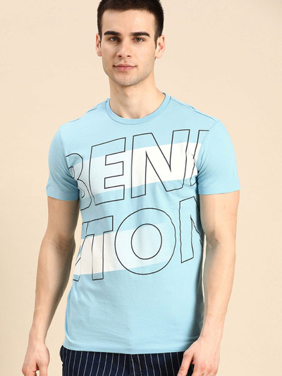 UCB blue cotton casual t-shirt