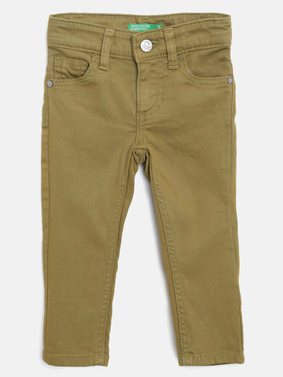 UCB olive casual wear solid jeans