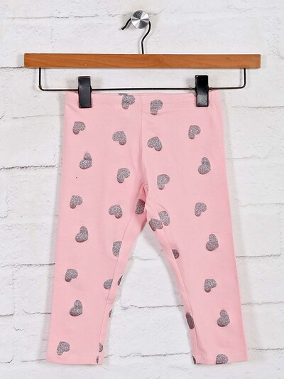 UCB pink printed leggings for girls