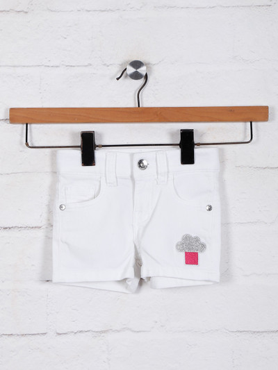 UCB solid white girls shorts