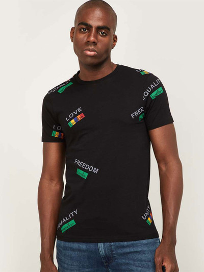 United Colors of Benetton black printed mens t-shirt