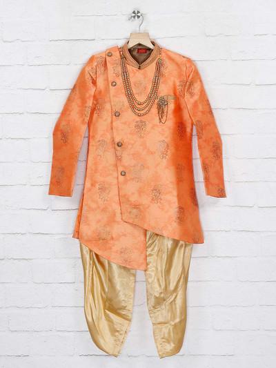 Wedding wear orange hue indo western