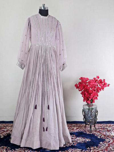 Wedding wear violet georgette anarkali suit