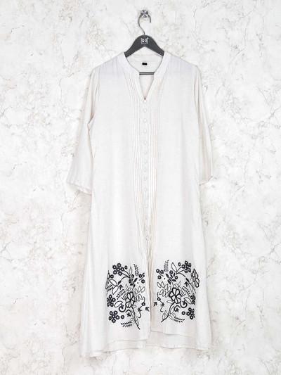 White hue casual wear simple kurti