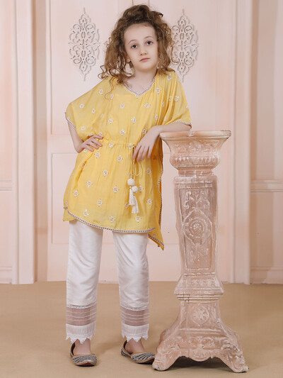 Yellow pant suit for festive days